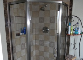 Tile Shower stall installation