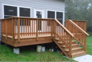 Deck construction in Westport, WA